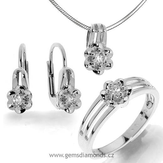 6eb4094ee GEMS luxusní souprava s diamanty, bílé zlato 386-1198   Pretis s.r.o.