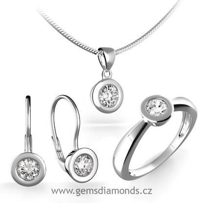 87202d2a6 Luxusní souprava s diamanty Evelina, bílé zlato   Pretis s.r.o.