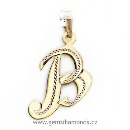 aeb7b8e21 Zlatý přívěsek písmeno - ryté | Pretis s.r.o.