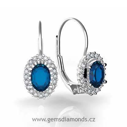 Luxusní náušnice s diamanty a741ed2fcc7