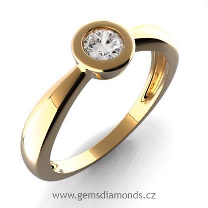 Gems Zlaty Sperk S Diamantem Vera Prsten Zlute Zlato 381 0178